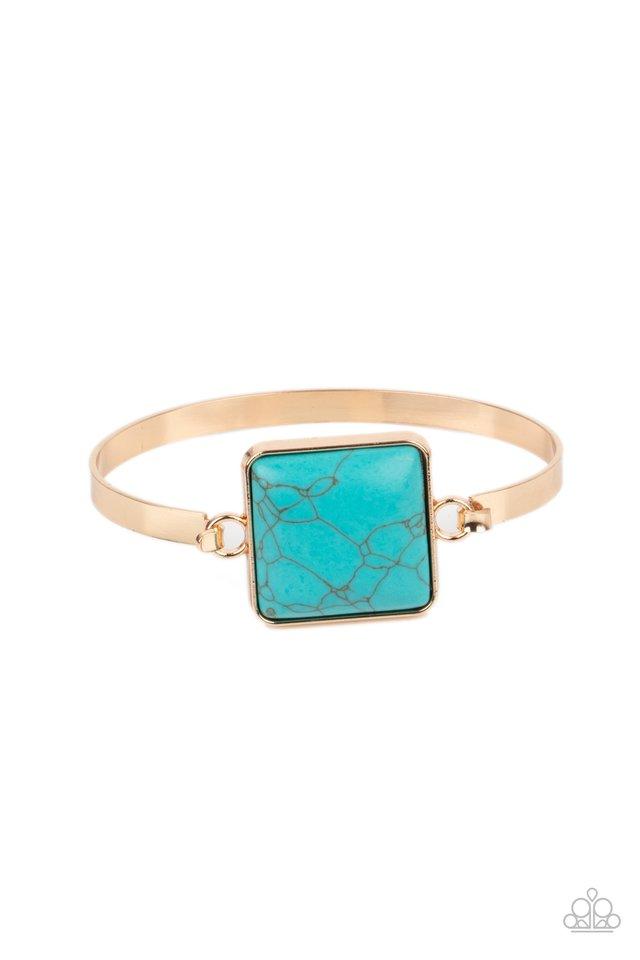 Turning a CORNERSTONE - Gold - Paparazzi Bracelet Image