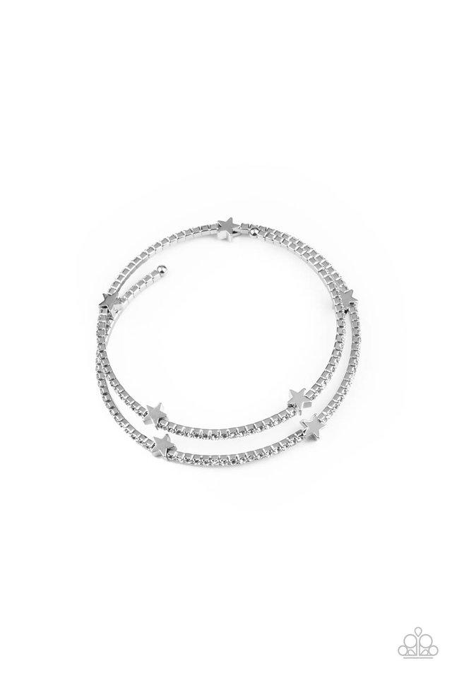 Let Freedom BLING - White - Paparazzi Bracelet Image