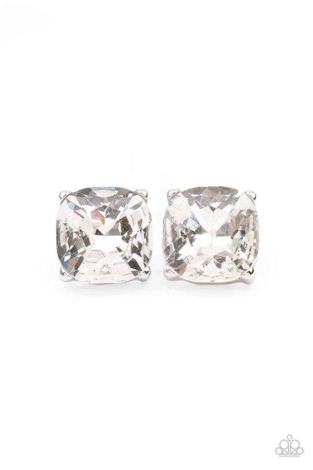 Royalty High - White - Paparazzi Earring Image