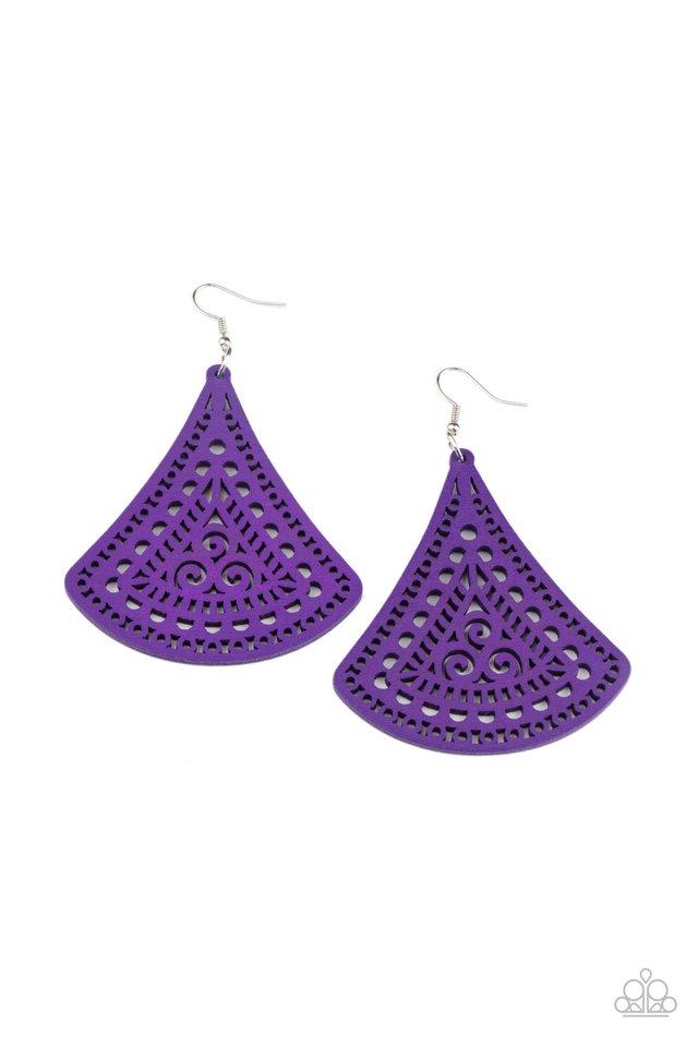 FAN to FAN - Purple - Paparazzi Earring Image