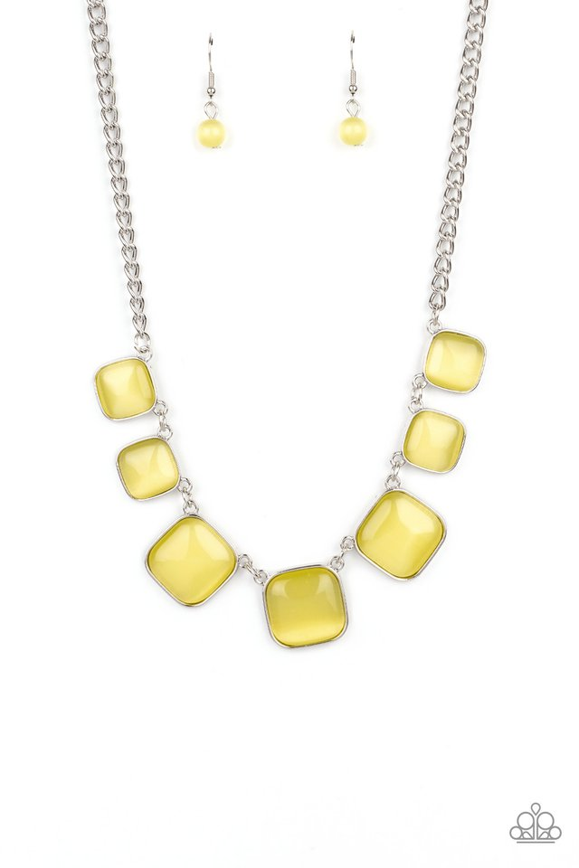 Aura Allure - Yellow - Paparazzi Necklace Image