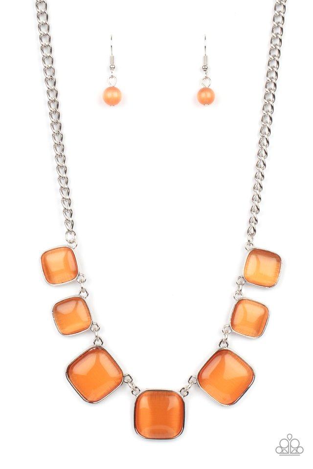 Aura Allure - Orange - Paparazzi Necklace Image