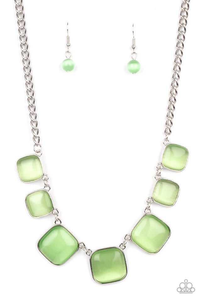 Aura Allure - Green - Paparazzi Necklace Image