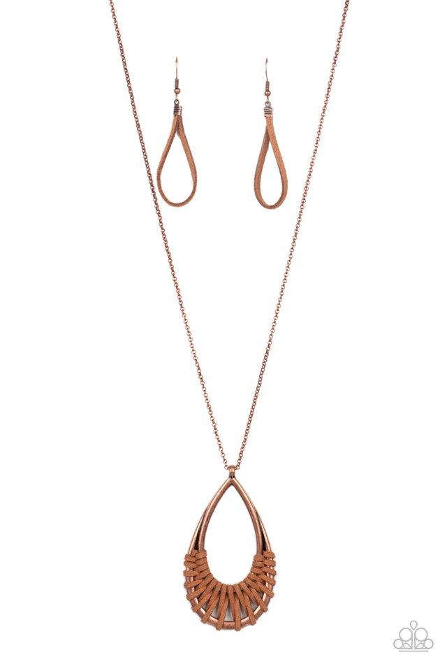 Homespun Artifact - Copper - Paparazzi Necklace Image