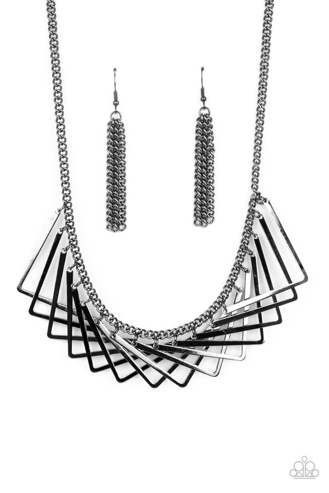 Metro Mirage - Black - Paparazzi Necklace Image