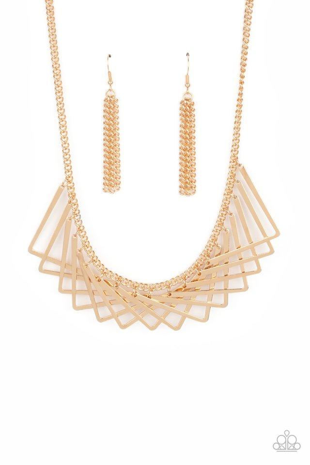 Metro Mirage - Gold - Paparazzi Necklace Image