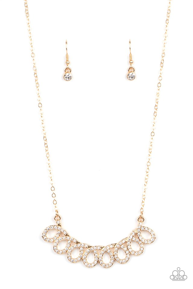 Timeless Trimmings - Gold - Paparazzi Necklace Image