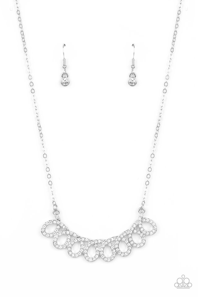 Timeless Trimmings - White - Paparazzi Necklace Image