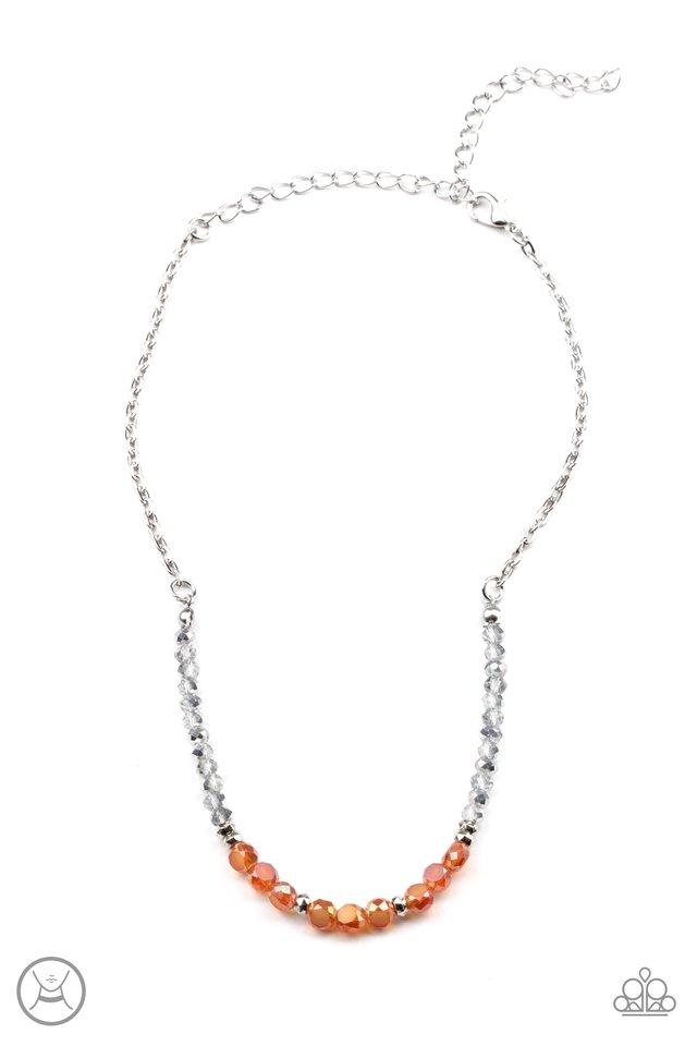 Space Odyssey - Orange - Paparazzi Necklace Image