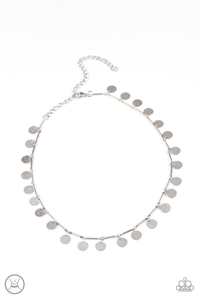 Musically Minimalist - Silver - Paparazzi Necklace Image