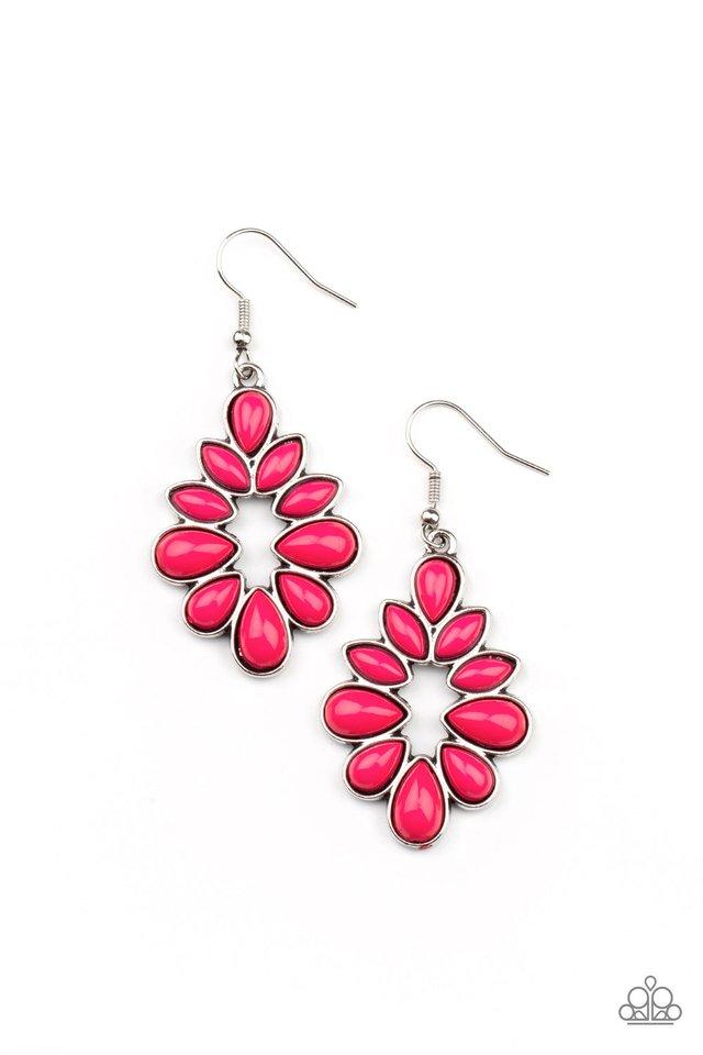 Burst Into TEARDROPS - Pink - Paparazzi Earring Image