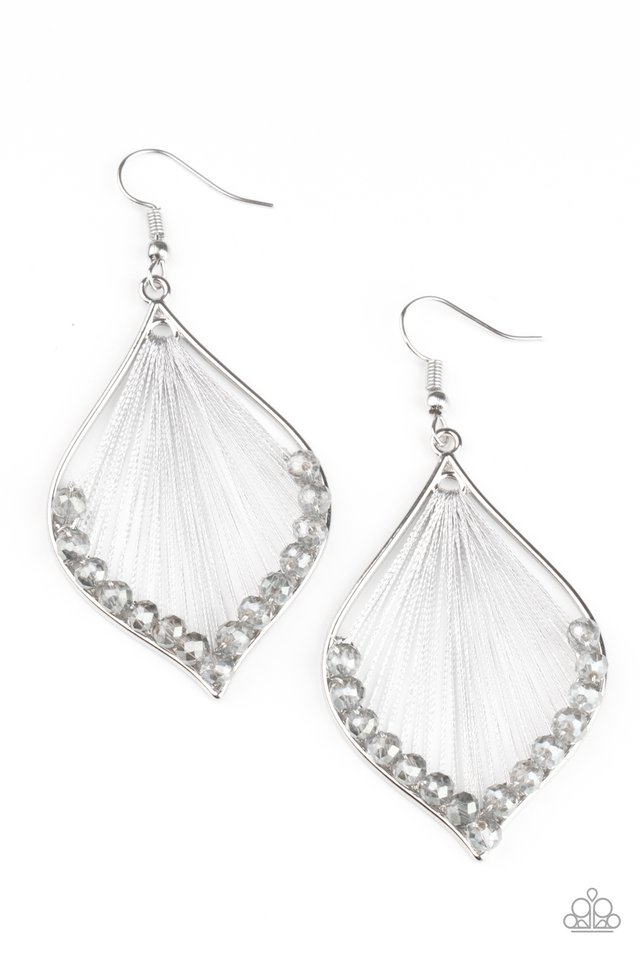 Pulling at My HARP-strings - Silver - Paparazzi Earring Image