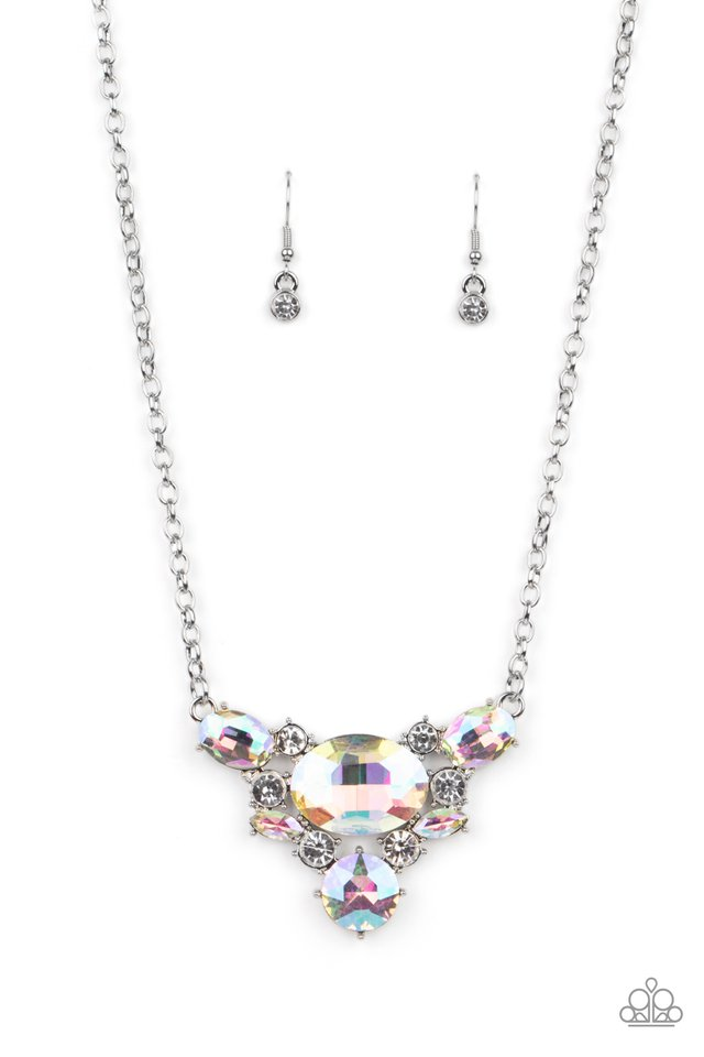 Cosmic Coronation - Multi - Paparazzi Necklace Image
