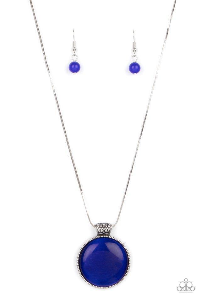 Look Into My Aura - Blue - Paparazzi Necklace Image