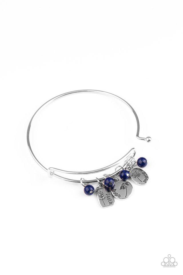GROWING Strong - Blue - Paparazzi Bracelet Image