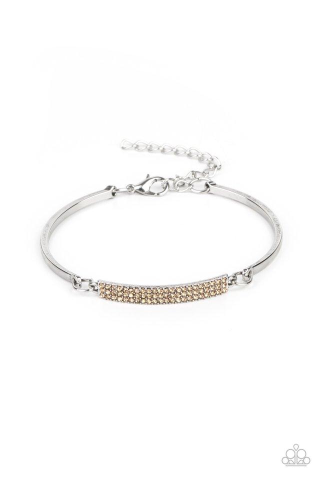 Showy Sparkle - Brown - Paparazzi Bracelet Image