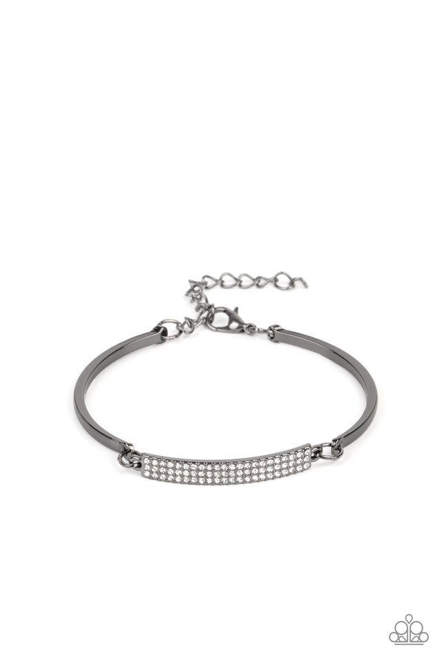 Showy Sparkle - Black - Paparazzi Bracelet Image