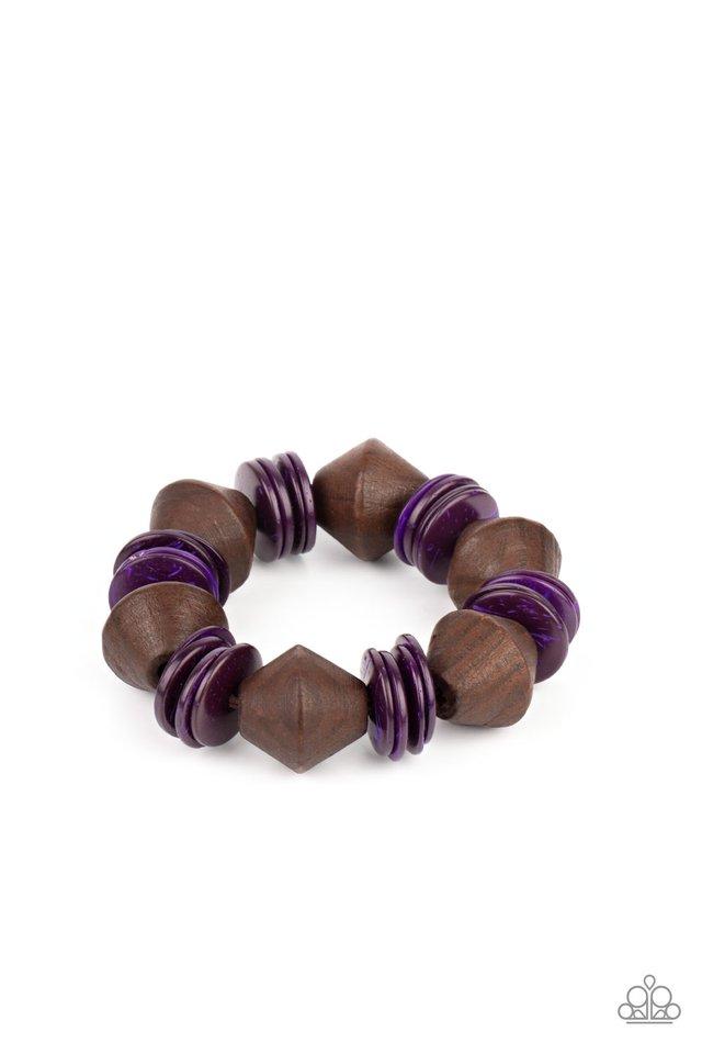 Bermuda Boardwalk - Purple - Paparazzi Bracelet Image