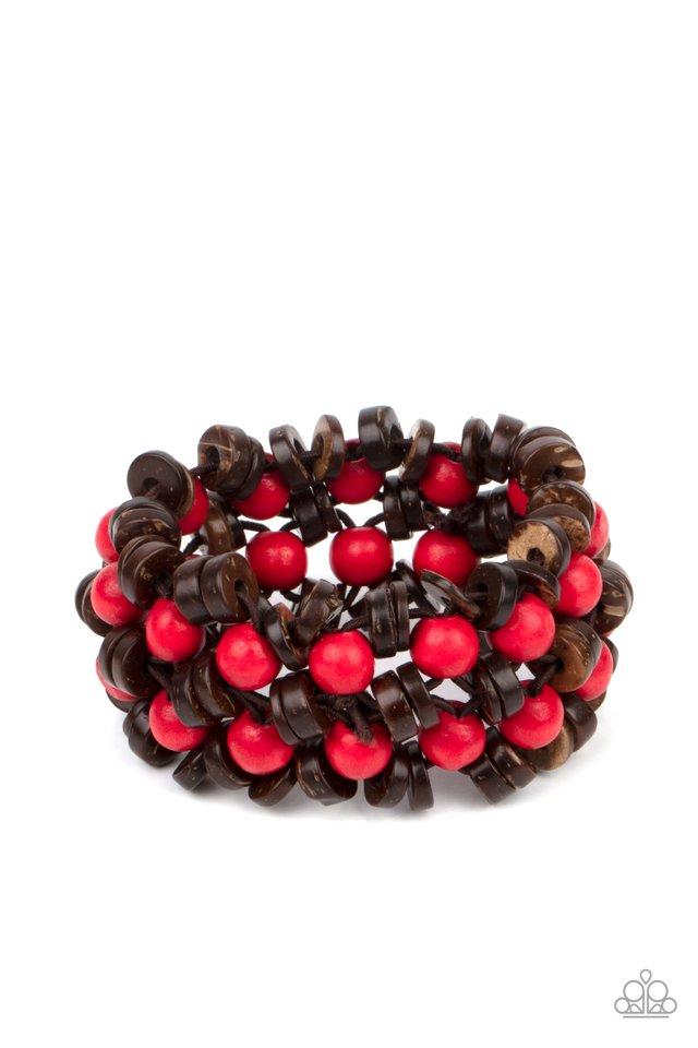 Tahiti Tourist - Red - Paparazzi Bracelet Image