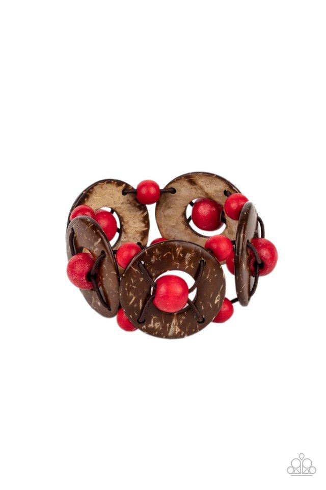 Island Adventure - Red - Paparazzi Bracelet Image