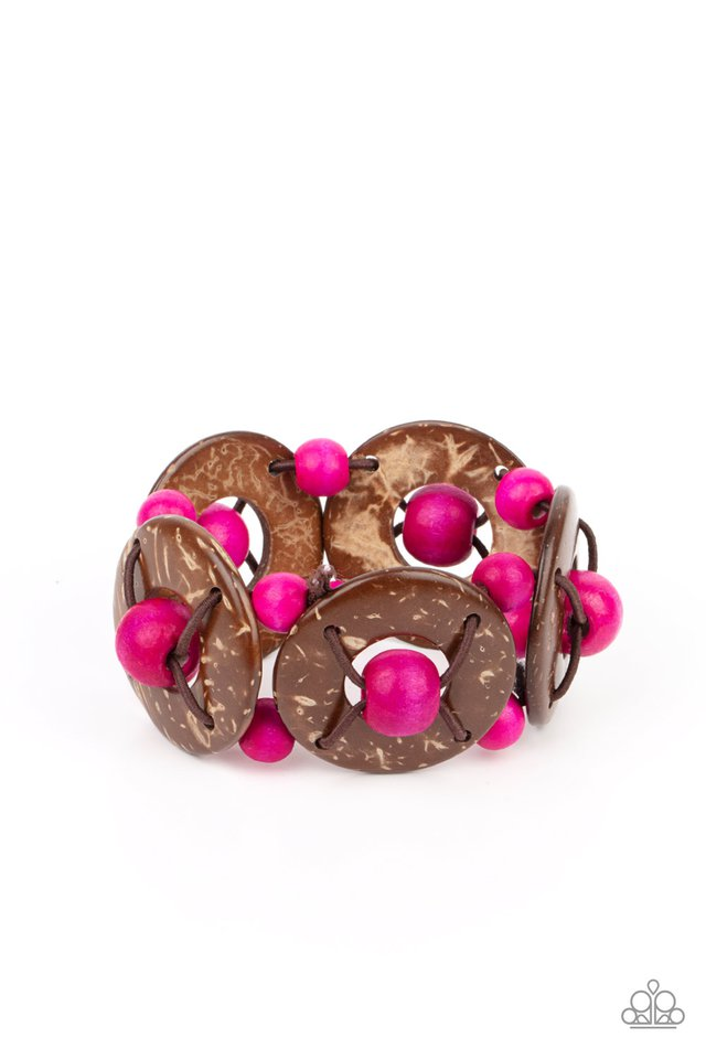Island Adventure - Pink - Paparazzi Bracelet Image