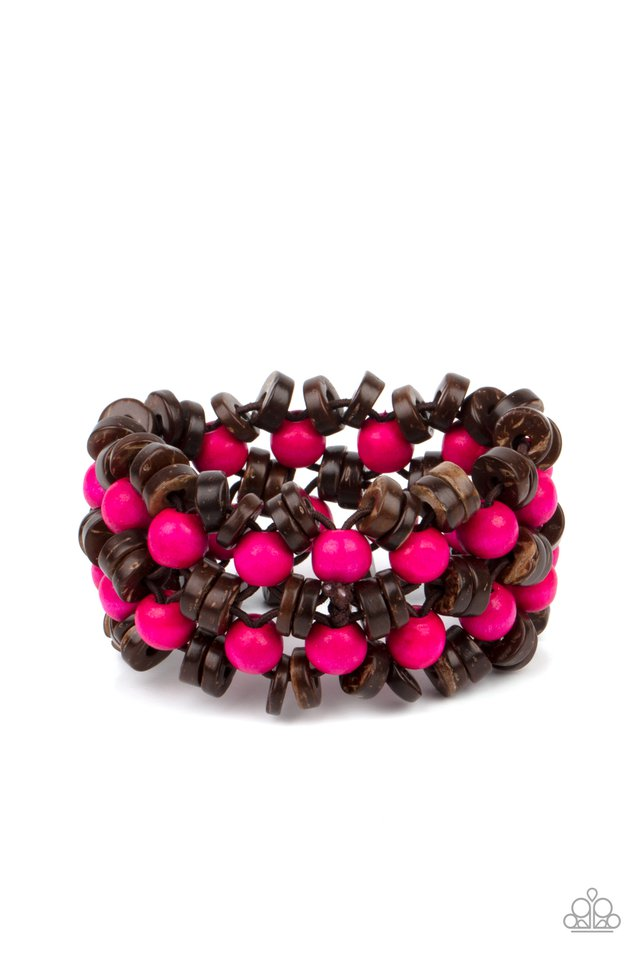 Tahiti Tourist - Pink - Paparazzi Bracelet Image