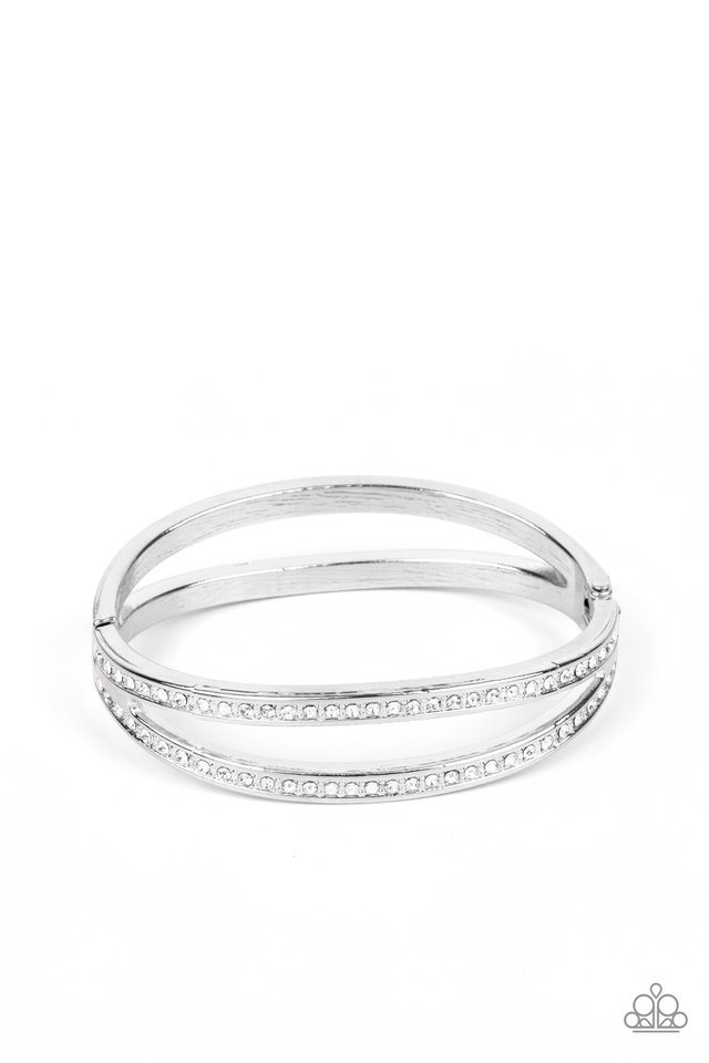 A Show of FIERCE - White - Paparazzi Bracelet Image