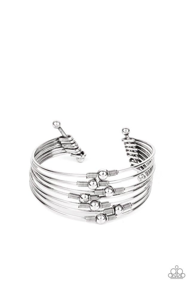 Industrial Intricacies - Silver - Paparazzi Bracelet Image