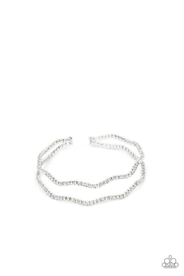 Delicate Dazzle - White - Paparazzi Bracelet Image