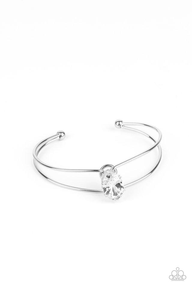 GLOW No Mercy - White - Paparazzi Bracelet Image