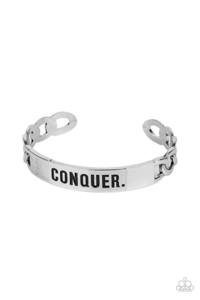 Conquer Your Fears - Silver - Paparazzi Bracelet Image