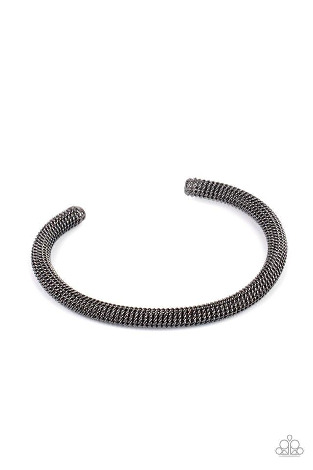 Metro Machiavellian - Black - Paparazzi Bracelet Image