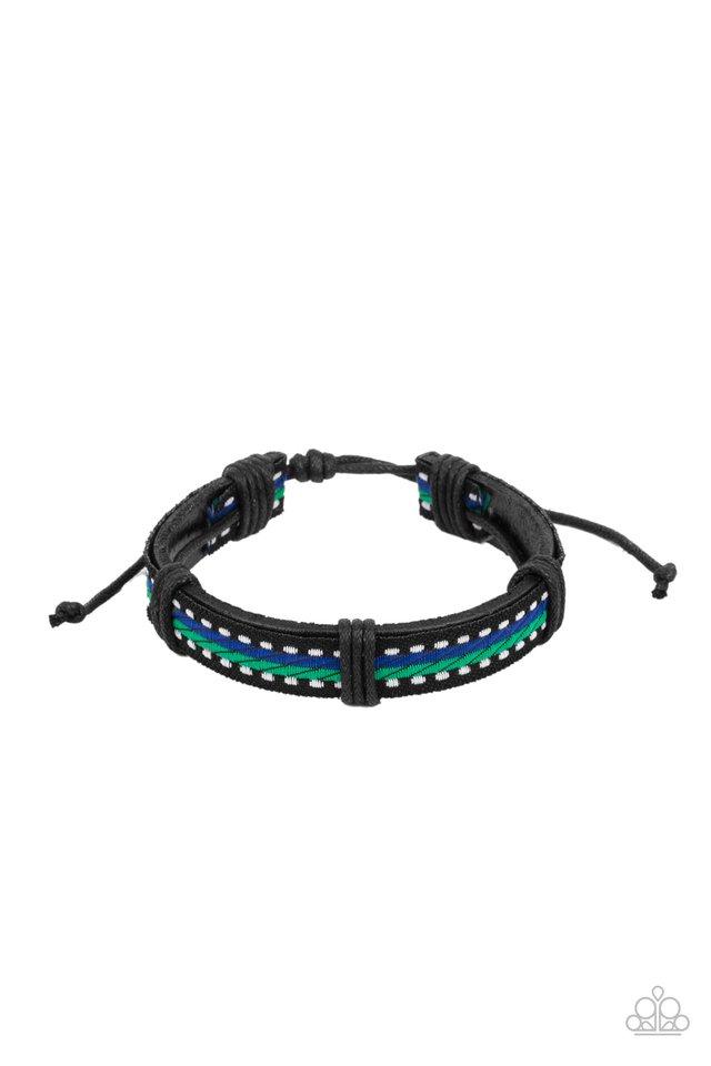 Forging a Trail - Blue - Paparazzi Bracelet Image