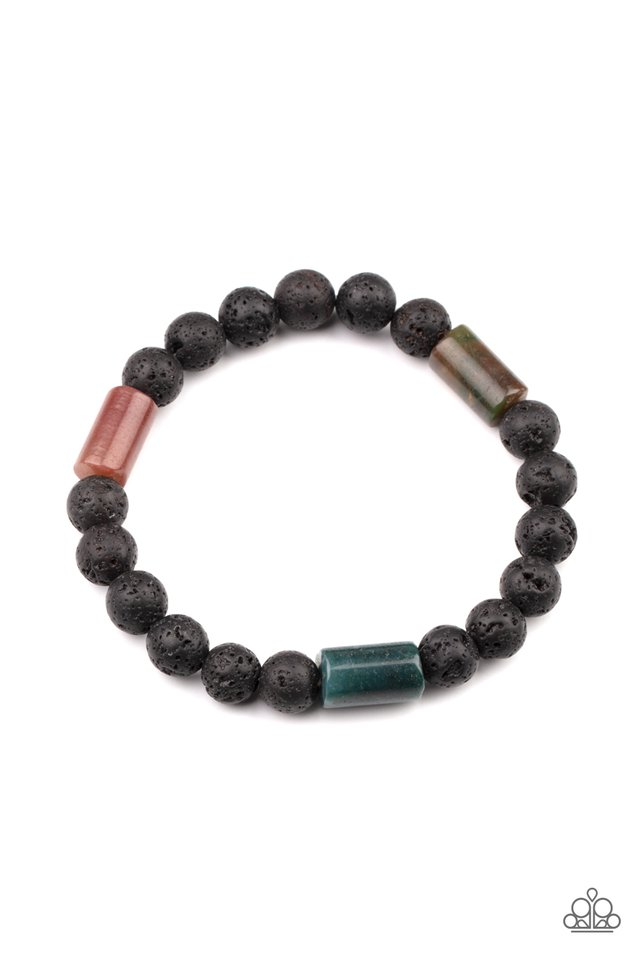 Earthy Energy - Green - Paparazzi Bracelet Image