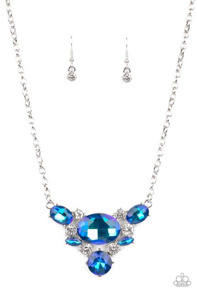 Cosmic Coronation - Blue - Paparazzi Necklace Image