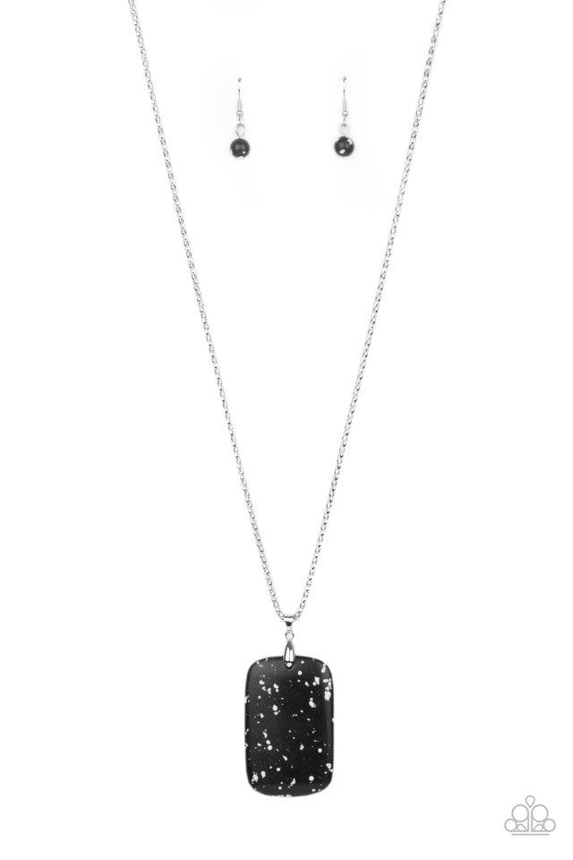 Fundamentally Funky - Black - Paparazzi Necklace Image