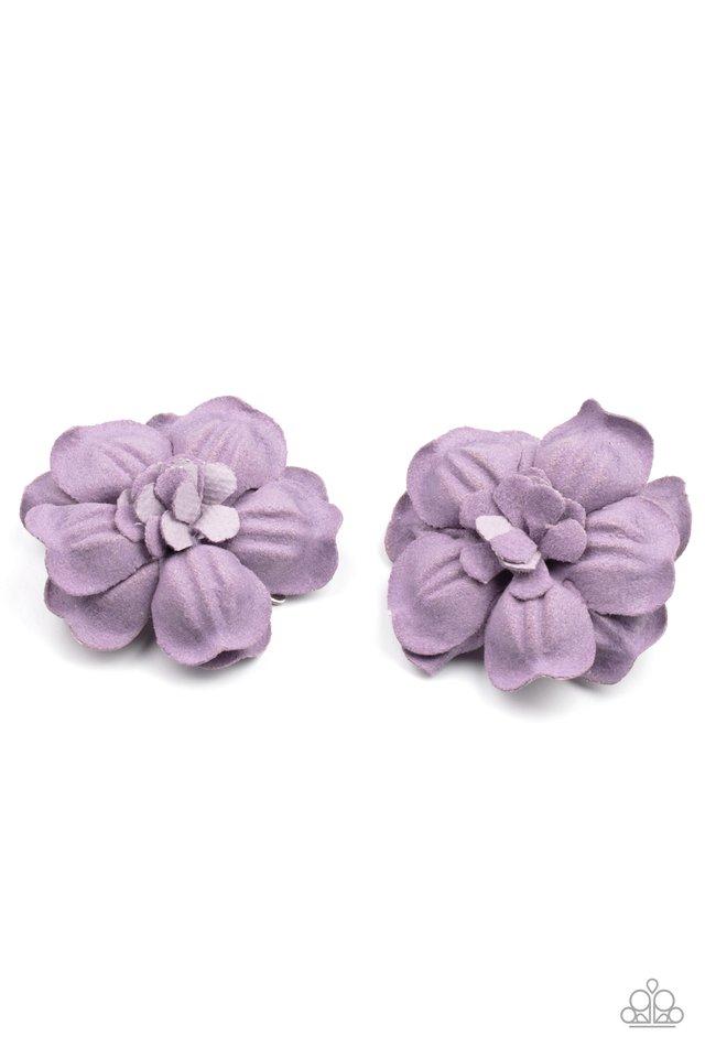 Happy-GROW-Lucky - Purple - Paparazzi Hair Accessories Image