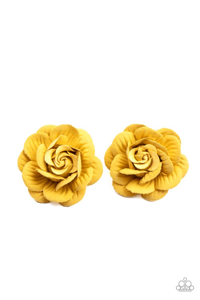 Best of Buds - Yellow - Paparazzi Hair Accessories Image