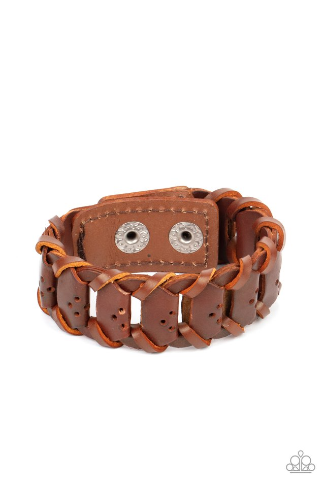 Knocked for a Loop - Brown - Paparazzi Bracelet Image