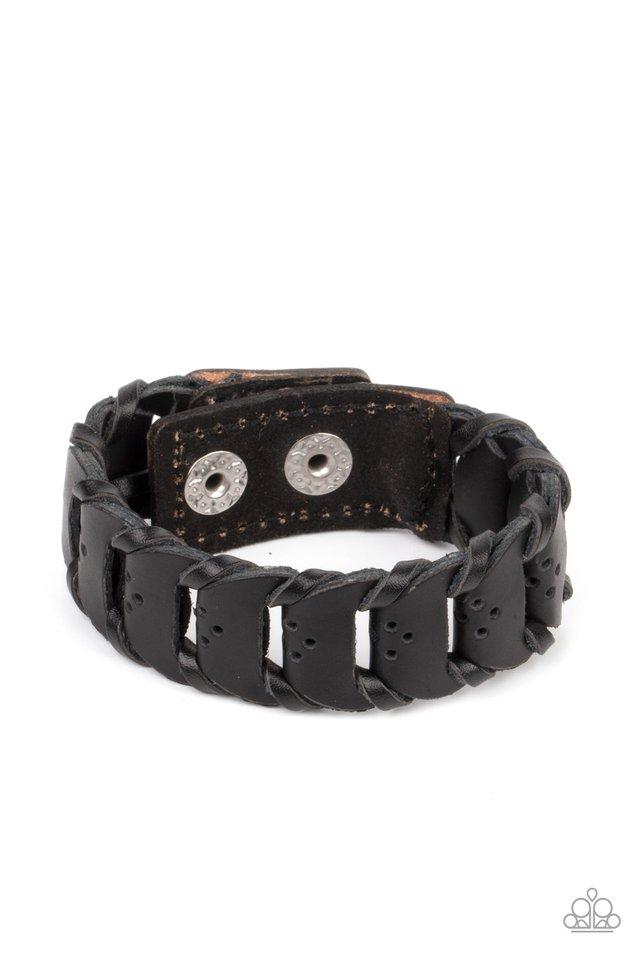 Knocked for a Loop - Black - Paparazzi Bracelet Image