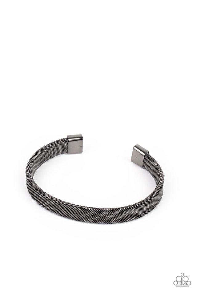 Quit MESHing around - Black - Paparazzi Bracelet Image