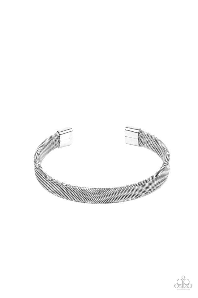 Quit MESHing around - Silver - Paparazzi Bracelet Image