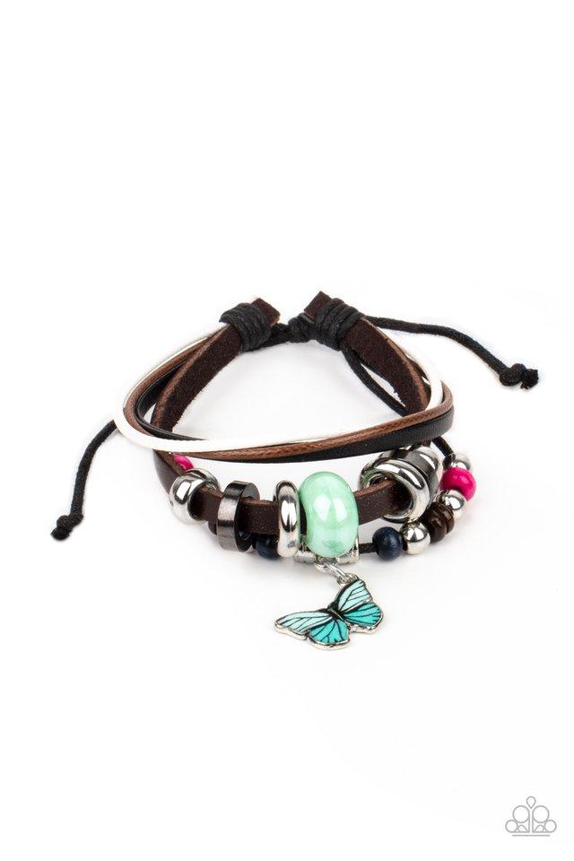 Bodacious Butterfly - Blue - Paparazzi Bracelet Image