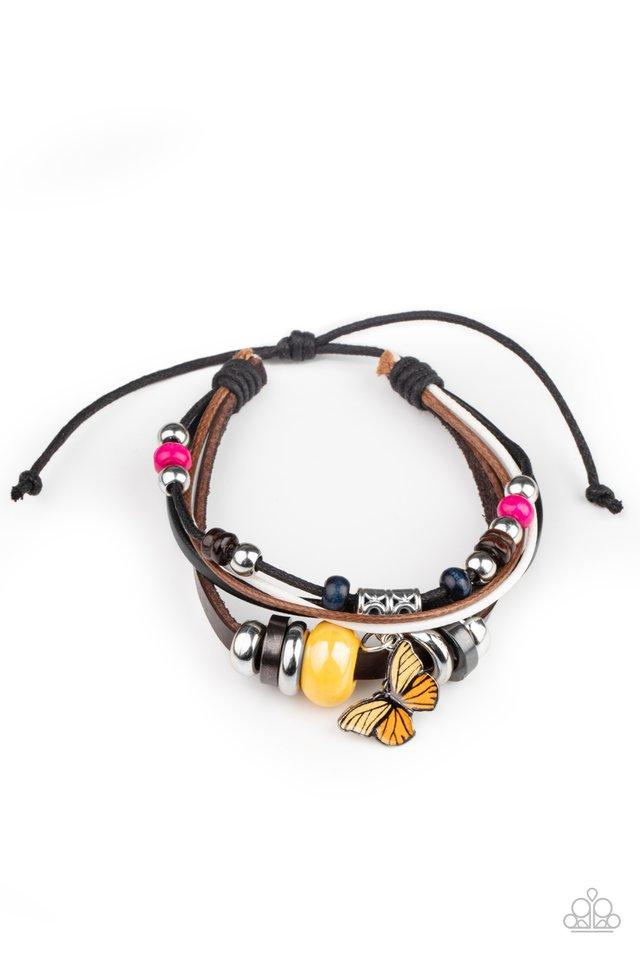 Bodacious Butterfly - Multi - Paparazzi Bracelet Image