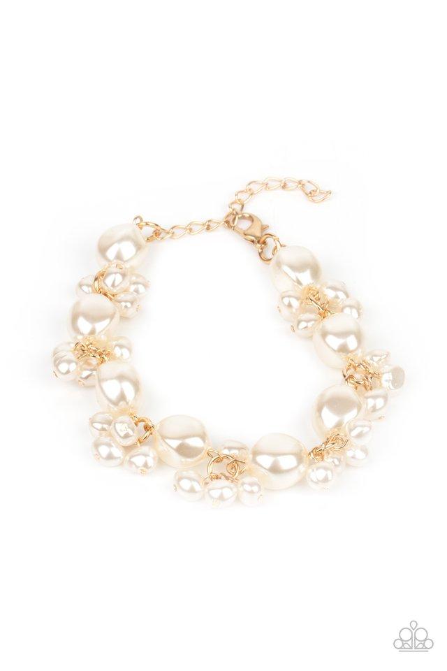 Imperfectly Perfect - Gold - Paparazzi Bracelet Image