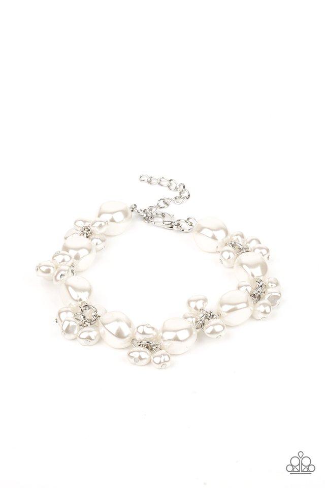 Imperfectly Perfect - White - Paparazzi Bracelet Image