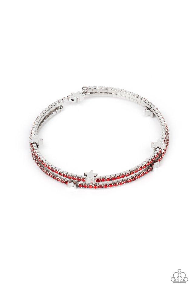 Let Freedom BLING - Red - Paparazzi Bracelet Image