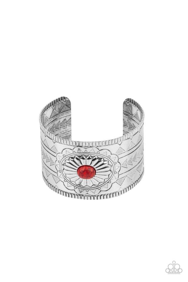 Aztec Artisan - Red - Paparazzi Bracelet Image