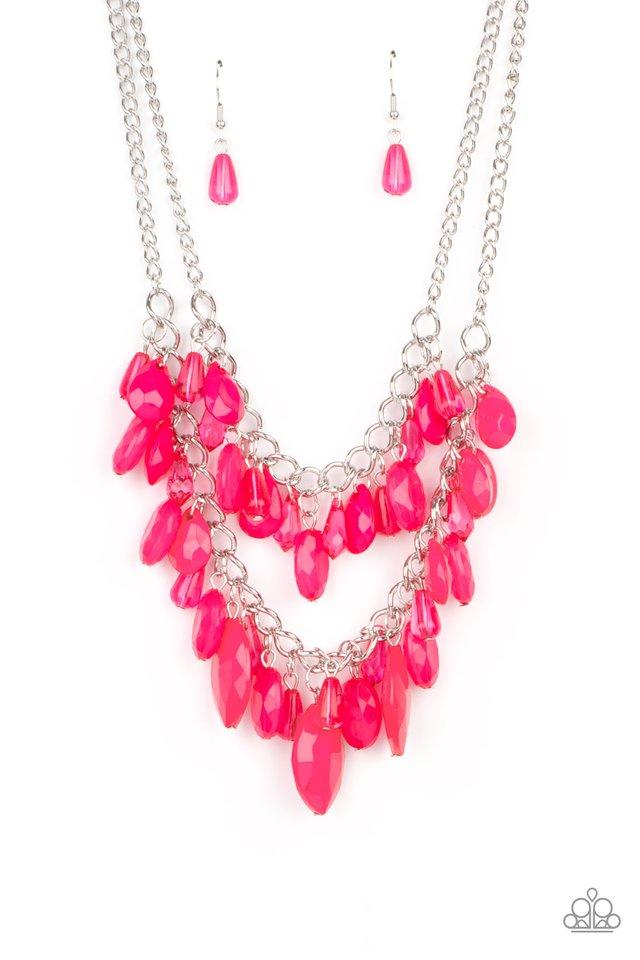 Midsummer Mixer - Pink - Paparazzi Necklace Image