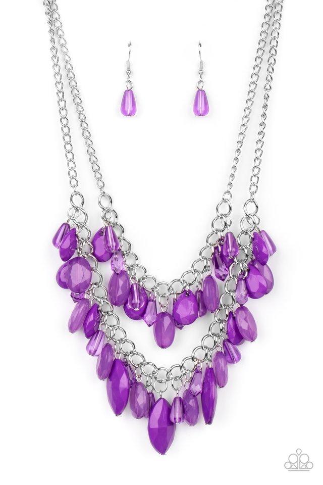 Midsummer Mixer - Purple - Paparazzi Necklace Image